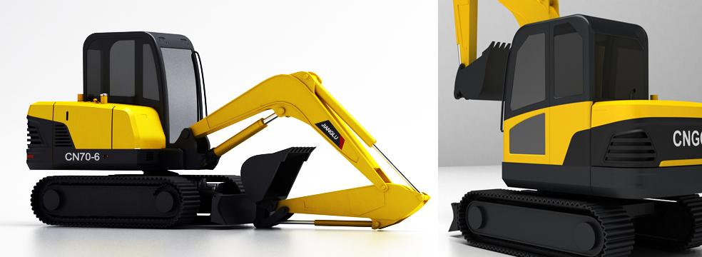 湖南长沙九十八号工业设计有限公司(N98Design),挖机工业设计,中国兵器工业集团江麓机械