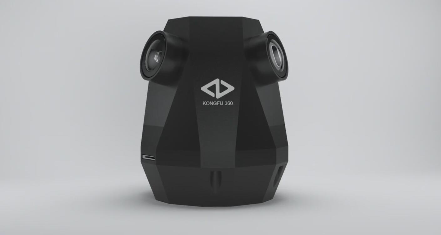 功夫360-4k实时全景相机工业设计